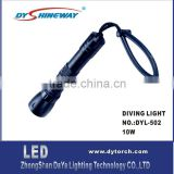 DY-D02 XML LED 10W,1200LM,2*18650 LIION battery,rechargeable,100waterproof,2600mah,back up diving torch