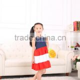 new fashion baby girl party dresses clothes backless with bowknot children's lovely cotton joining jean dress