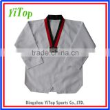 White ribbed Taekwondo Uniform Dobok WTF