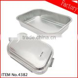Food Packaging White Coated Airline Aluminum Foil Containers China Manufacturer in guangzhou