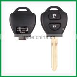 High quality Blank 2 Buttons Remote Key Case For Toyota Corolla Camry Prado RAV4 FOB Shell
