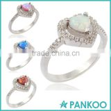 New Statement Jewelry Wedding Rings Jewelry Rings for Women White Fire Opal Jewelry Ring