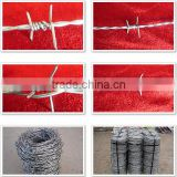 Galvanized Double Twisted Barbed Wire Fence FOR military field, prisons, detention houses, government buildings