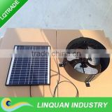 15W 14inch solar powered wall ventilators,solar exhaust fan