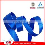 Wholesale Blue color satin ribbon with sliver edge