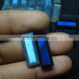 BLue Flahsy natural Labradorite Gemstone Rectangular shape faceted Gemstone with flate base