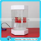 factory price showcase shelves with door, acrylic plexiglass rotating display case counter