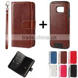 separable flip wallet leather cell/mobile/smart phone case cover with lanyard for One plus one two T1 T2 U X 1 2