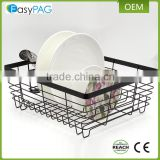 New fancy design industrial iron metal wire corner kitchen dish rack plate rack dish storage