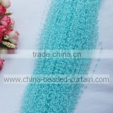 Wholesale Blue 3MM 1.3M Strand Plastic Pearl Bead Strands Pearl Beading Wrap for Event Ornament