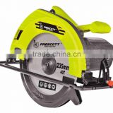 China prescott electric 220V 235mm 2400W mini wood/metal/concrete circular saw with double bevel function