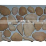 PU faux river stone panel, pebble stone,decorative wall panel,3D foam insulated wall panel