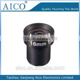 china manufacturer high quality 1/2 inch f1.8 magapixel m12 16 mm cctv ir lens