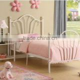 MODERN WHITE STEEL METAL PRINCESS STYLE GIRLS KIDS TWIN FRAME PLATFORM BED