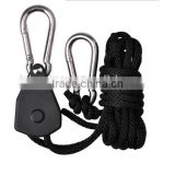 Heavy duty grow light hangers, rope ratchet lashing belt, hydroponic system adjustable rope light rope ratchet