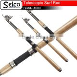 Chinese cheap solid fiber glass fishing rods cork handle