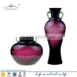 Wholesale murano modern art oval glass flower vase of crystal factory