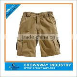 cotton mens baggy khaki cargo shorts with 6 pockets