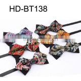 HD-B138 HD-B138 Fashion new design polyester men's classical bow tie with mix paisley pattern