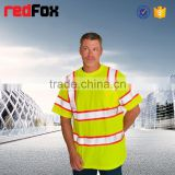 animal printed 3d t-shirt 160gsm mesh reflective safety t-shirt for worker hi viz reflective safety t-shirt