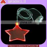 plastic star shaped red light glowing necklace xmas gifts promotional