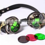 Steampunk googles eyewear accessory with magnifying lenses