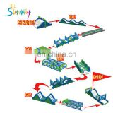 Sunway Inflatable Cool Combine Obstacle Course for Sale