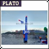 Blue smile face air dancer for advertising/attractive inflatable air dancer for promotion