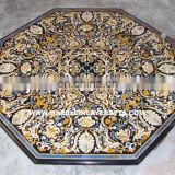Octagonal Stone Inlay Dining Table Top