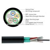 Fiber Optic Cable 2 / 4 / 6 / 8 / 12 / 16 / 24/48/144 Core Single Mode Outdoor Armoured GYTA/GYTS factory price