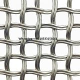 Burnished Brass Flat crimped Wire Grille Diamond Metal Wire Mesh as Architectural Metal Panels