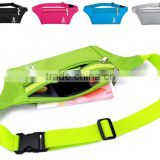 Outdoor Climbing Cycling Camping Travel Waterproof Polyester Ultra-thin Waist Pack Mobile Phone Bag Runner Belt