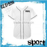 fashionable baseball jersey embroidered pattern and logo t-shirts for men/women training