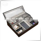 PU leather leather box for hamper wholesale