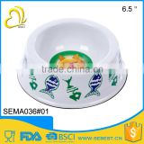wholesale durability white melamine feeders plastic pet bowl