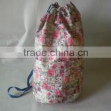 draw string bag, round bag, backpack