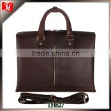 Custom high quality 17.5 inch crazy horse leather business laptop bag