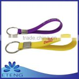 Promotion & HOT sale custom printed silicone loop key chain