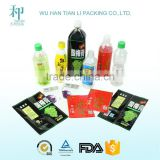 OEM factory colorfull biodegradable plastic sleeve packaging for bottle