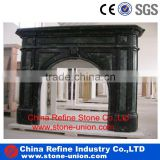 Carving Black marble fireplace