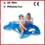 PVC inflatable blue whale floating riders for kids