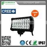 Hot Sell popular CREE 108w LED Light Bar for Offroad Vehicle,Heavty Duty,Agriculture,Mining and Marine QRLB108-C
