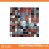 High quality sparkle glass small chip color combination glitter bathroom floor/wall decorative tile