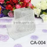 Wholesale sliver rhinestone cake decorating trims for cake,wedding events&party(CA-004)