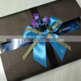 luxurious wedding invitation card with fresh flowers decoration