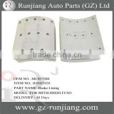 MC837284 brake lining use for mitsubishi fuso truck auto drum parts