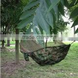 Camoflage hammock Parachute Fabric Hanging Bed With Mosquito Net