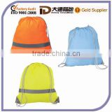 Bright Color Nylon School Shoulder Drawstring Book Bag