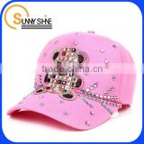 china fashion custom cheap Rhinestone children's baseball cap                                                                         Quality Choice