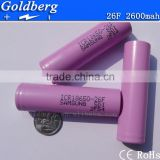 New stock samsung18650 2600mah li-polymer battery ICR18650-26F 3.7v 2600mah for electric children toys